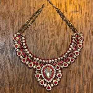 Red/crystal statement necklace